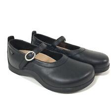Birkenstock Footprints Womens 38 Leather Mary Jane Black