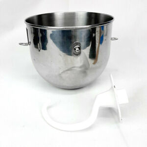 Stainless Steel KitchenAid 4.5qt Mixing BOWL + BEATER for KitchenAid K4SSWH Mixr