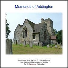 Addington, Kent - Parish Registers & Census Returns Transcripts CD
