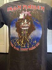 Vtg 88 Iron Maiden The Evil Tour Shirt Sz M Guns Rock Priest Metal Slayer Ozzy