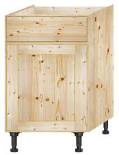 Solid Pine Wood Kitchen Base unit 600mm wide with door & drawer