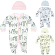Baby Safari Clothes Outfit Set Animals Elephant Zebra Giraffe Hippo Bodysuit Hat