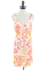ANN TAYLOR Womens Sundress Size 6 XS Orange Red Floral Rayon