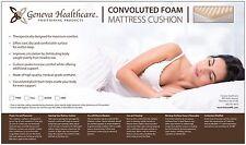 "Geneva Healthcare Egg Crate Foam Mattress Pad Twin Topper-3""x39""x75""-1.5 Den"