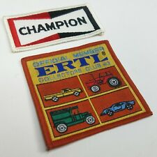 Official Member ERTL Collectors Club #3 Champion Spark Plug Patch Nascar Iron on