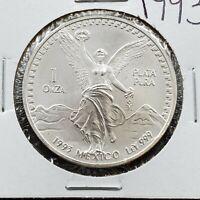 1993 Mo 1 oz Onza Mexico Libertad GEM BU UNC Ley .999 Plata Pura Nice Coin