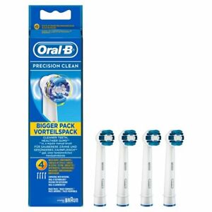 Precision Clean Oral B Braun Replacement Electric Toothbrush Heads Four Pack UK