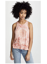 ENZA COSTA Sleeveless Cropped Sheath Pima Cotton Tank Top Blood Orange M $118 B3