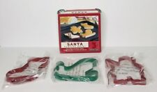 NEW Williams Sonoma Christmas Holiday Santa Pancake Cookie Non-Stick Molds