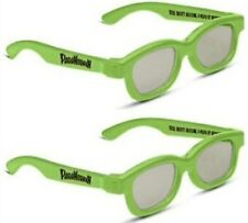 PARANORMAN REAL D  3D  GLASSES ADULT  SIZE  7  PAIRS  DEAL **FOR PASSIVE TV