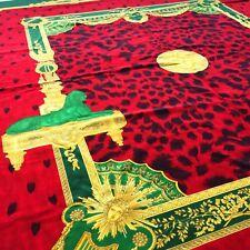 "GIANNI VERSACE red velvet fabric panel Roman Empire print 57 x 62.5 """