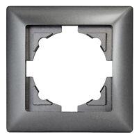 Gunsan Visage 1-fach Rahmen Steckdose Schalter Dimmer Dunkelsilber 1281700000140