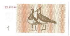 More details for lithuania 1992 birds banknote 1 talonas p39. superb radar, uncirculated & scarce