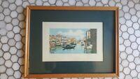 Antique Watercolor Venice Italy