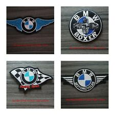 4 pcs BMW Motor Racing Car Motorcycles Bike embroidered patch  Iron or Sew on