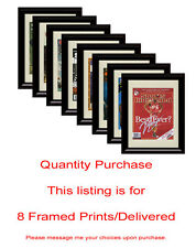 Any 8 Framed Prints/Framed Autograph Prints Delivered
