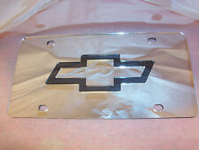 Chevy Laser License Plate Silver/Black NEW!!
