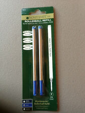 MONTBLANC BY MONTEVERDE ROLLERBALL MEDIUM Point Refill BLUE 2 Pack NEW 88516