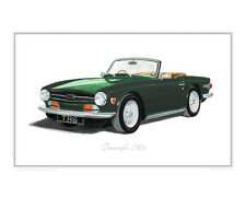 Triumph TR6 - Limited Edition Classic Car Print Poster by Steve Dunn