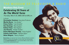 AS THE WORLD TURNS – EILEEN FULTON – 2006 NEW YORK MUSEUM OF TV POSTCARD – MINT