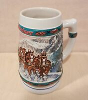VINTAGE BUDWEISER 1993 HOLIDAY STEIN SPECIAL DELIVERY SIGNED NORA KOERBER