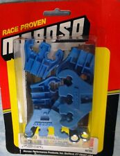 New set Moroso chrome universal spark plug tall wire looms with Blue separators