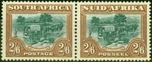 South Africa 1949 2s6d Green & Brown SG121 Fine Mtd Mint