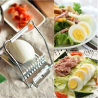 Stainless Steel Boiled Egg Slicer Cutter Mushroom Tomato Cooking Tools Kitchen