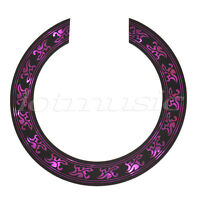 Soundhole Rosette Decal Sticker for Acoustic Guitar Parts Black Purple Pattern