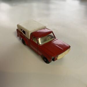 Matchbox LESNEY (No. 6 D) Red Ford PICKUP 100 with White Cap Parts Repair