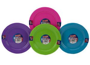 Plastic Plates Multi Colour Party Picnic BBQ Dinner Outdoor 18cm