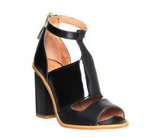 Sandals Office Block 100% Leather Upper Heels for Women