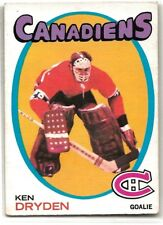 1971-72 OPC #45 KEN DRYDEN ROOKIE CANADIENS NICE CONDITION
