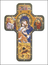 OUR MOTHER OF PERPETUAL HELP WOODEN CROSS - STATUES CANDLES PICTURES ALSO LISTED