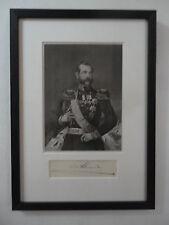 Tsar Alexander II Romanov of Russia Imperial Russian Royal Autograph