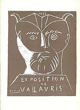 PABLO PICASSO EXPOSITION DE VALLAURIS LITHOGRAPH PRINT 9 X 12 INCHES