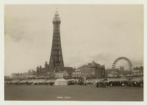 Blackpool Tower & Big Wheel From The Sands 1896 Photo By Frith