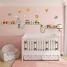 Car Highway Track wall stickers kids baby nursery boy room home decor decal