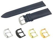 Navy Genuine Leather Flat Strap/Band fit Rado Watch Buckle 18 19 20 21 22mm