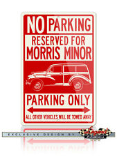 Morris Minor Traveller Wagon Woody Reserved Parking Only 12x18 Aluminum Sign
