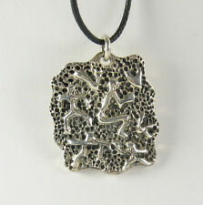 Petroglyph Pendant Necklace 925 Sterling Silver Mens Jewelry Figures People