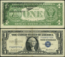 Fr. 1619 $1 1957 Silver Certificate Error Partial Offset Print Vf Face On Back