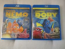 Finding Nemo & Finding Dory Blu-Ray double feature 2-disc set Pixar Free Shippin
