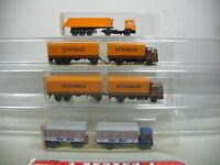 AI699-1# 4x Wiking H0 LKW/Lastwagen MAN: 473 Steinle+ 424 Elbe Obst+676 etc