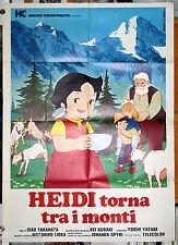 manifesto 2F film HEIDI TORNA TRA I MONTI Isao Takahata 1978 animazione manga