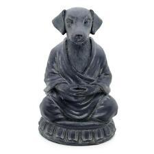 "MEDITATING DOG STATUE 6"" Zen Buddha Puppy GOOD QUALITY Resin Figurine Meditation"