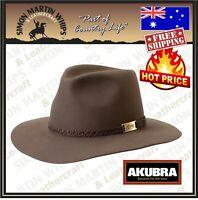 Akubra Avalon City Traditional Australian Made Bush Cowboy Hat - HAZELNUT