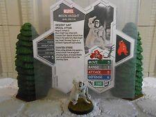 Heroscape Custom Moon Knight Double Sided Card and Figure w/ Sleeve Marvel