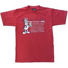 Vintage Warner Bros. Bugs Bunny T Shirt / Red / Size Medium / 1998