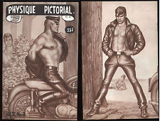 1961 campy gay art/graphics/photos Bob Mizer's Physique Tom of Finland early art